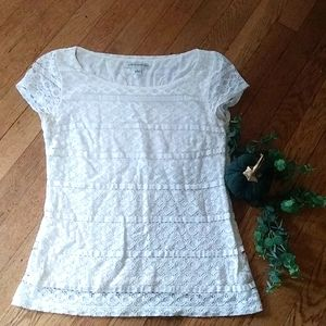 Banana Republic white lace blouse